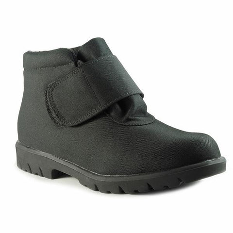 Toe Warmers Men's Hike Waterproof Boot in Black Fabric at Mar-Lou Shoes