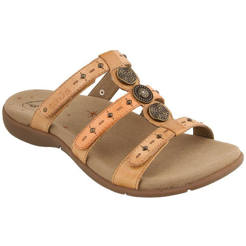 Taos Festive Sandal in Honey Multi Leather at Mar-Lou Shoes