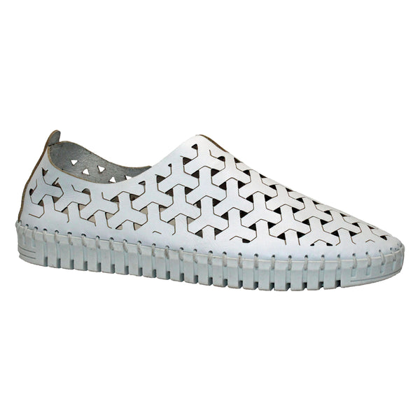 Eric Michael Inez Slip-On White Nubuck at Mar-Lou Shoes