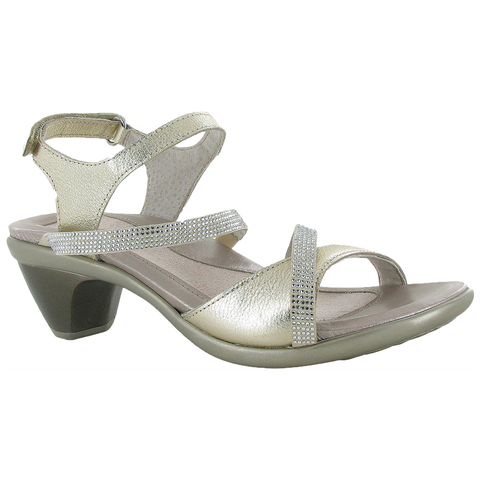 Innovate Sandal in Gold with Rhinestones