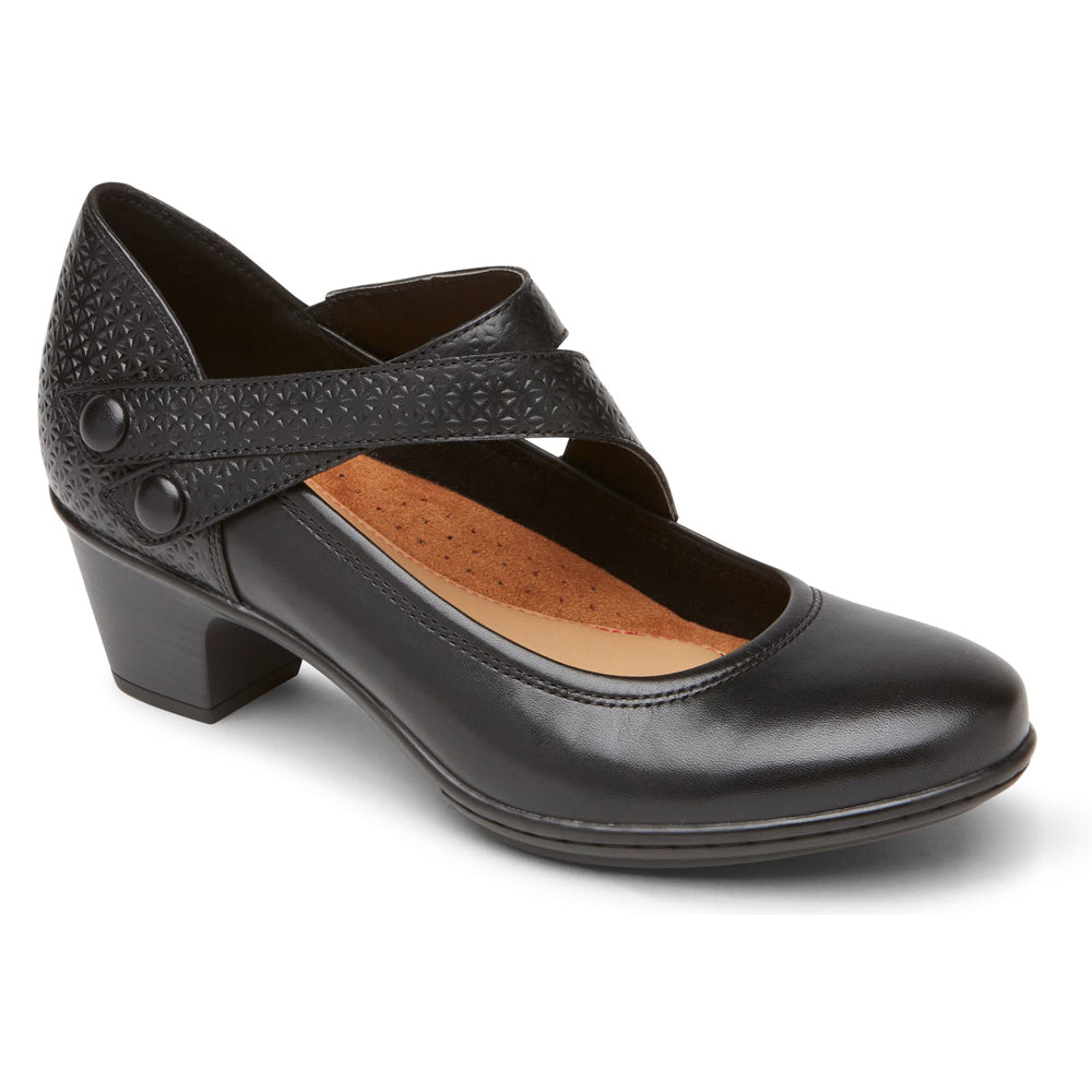 Cobb Hill Kailyn Heel Black Leather at Mar-Lou Shoes