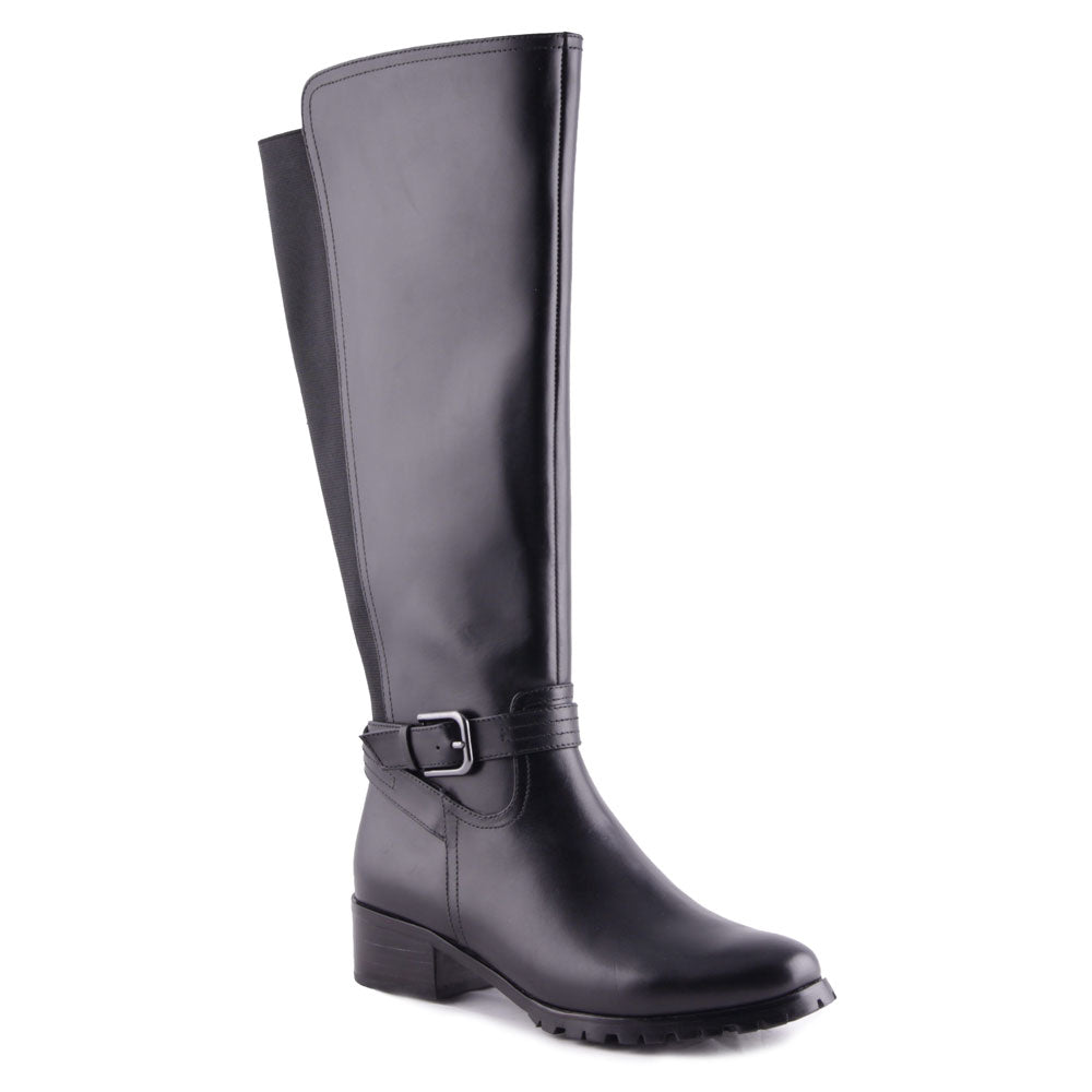 Kapern Waterproof Boots in Black Leather