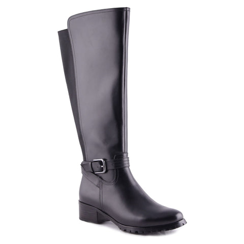 Kapern Waterproof Boot in Black Leather