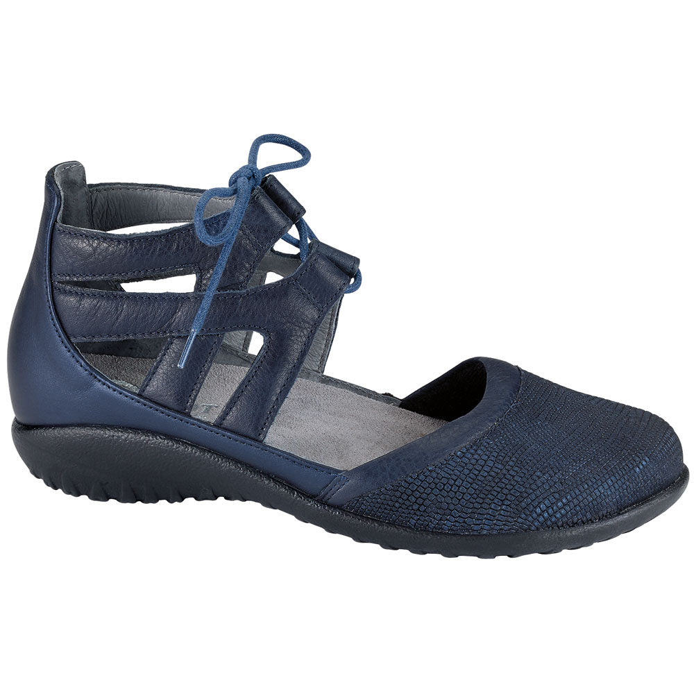 Naot Kata Sandal in Navy/Ink/Sea Leather at Mar-Lou Shoes