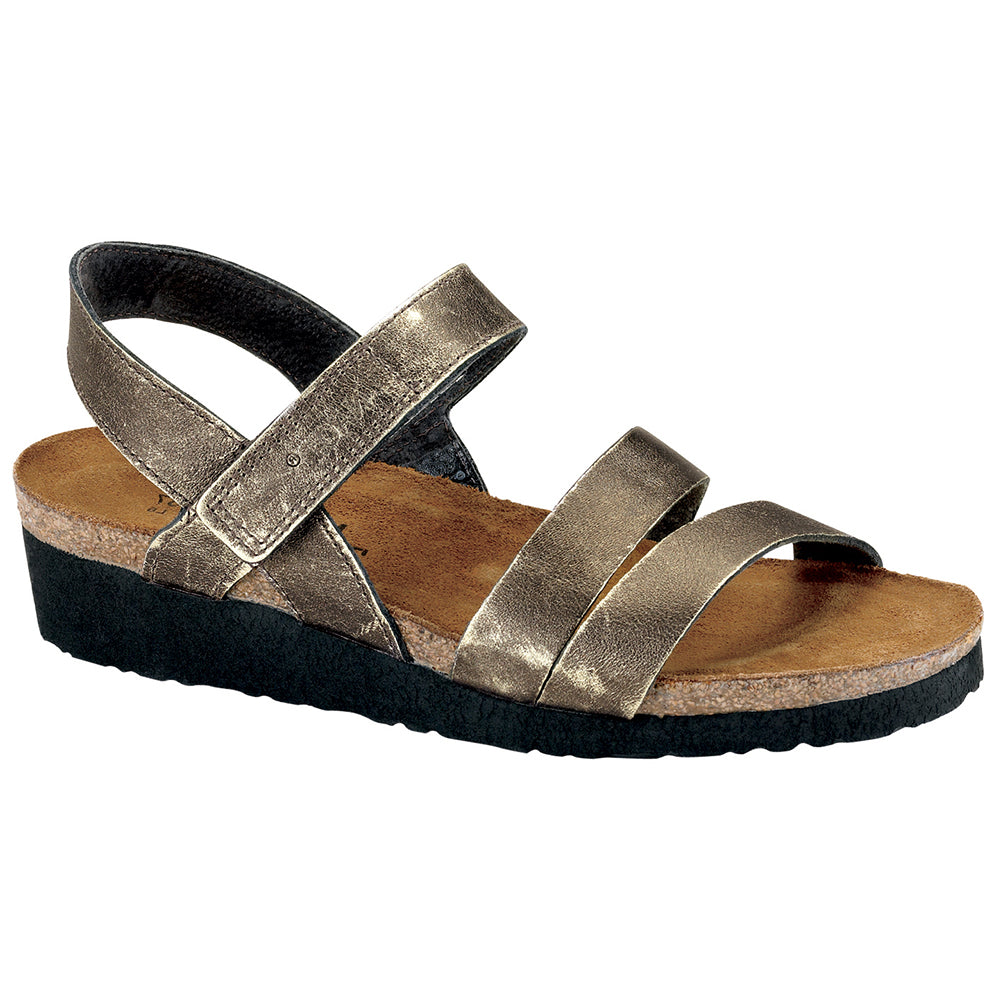 Kayla Sandal in Metal Leather