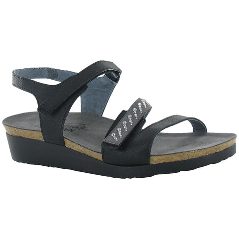 Naot Kendall Sandal in Black Leather at Mar-Lou Shoes