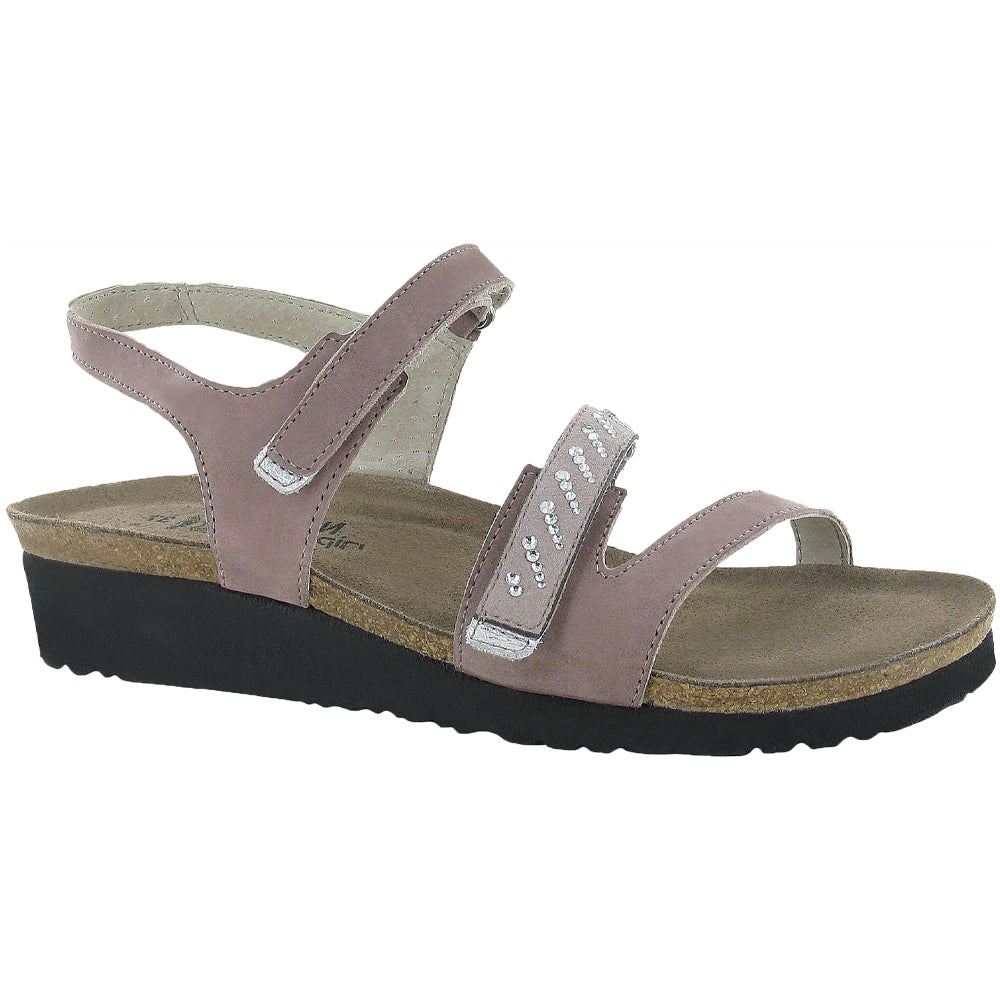 Naot Kendall Sandal in Mauve/Sand Leather at Mar-Lou Shoes