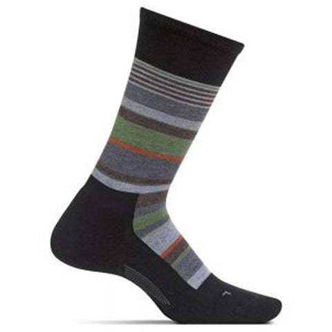 Men's Be Bold Cushion Crew Socks in Black Multi