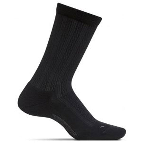 Women's Texture Ultra Light Crew Socks in Black