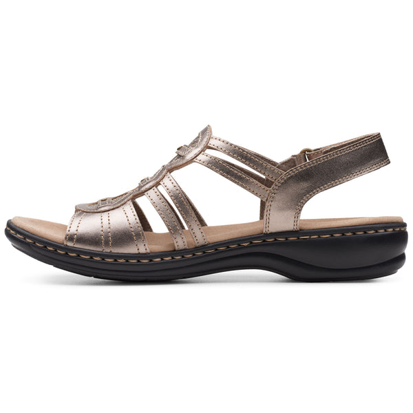 Clarks Leisa Janna in Pewter Leather at Mar-Lou Shoes