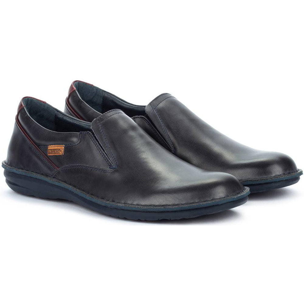 Pikolinos Santiago M8M-3195C1 in Navy Blue Leather at Mar-Lou Shoes