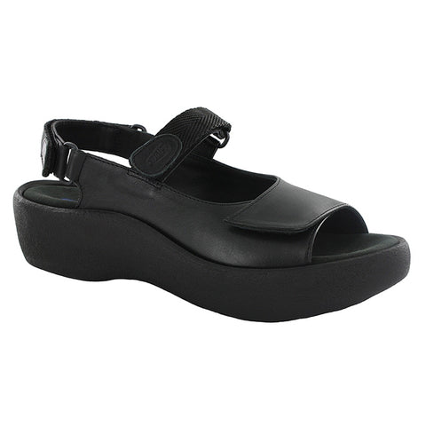 Jewel Sandal in Black Leather