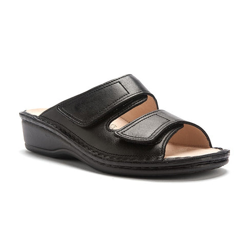 Jamaica Sandal in Black Nappa Leather