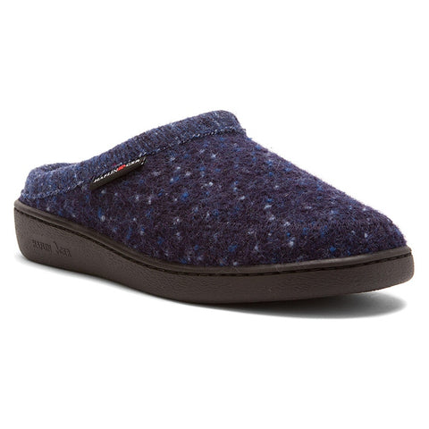 ATC Stitch Hardsole Slipper Navy Speckle