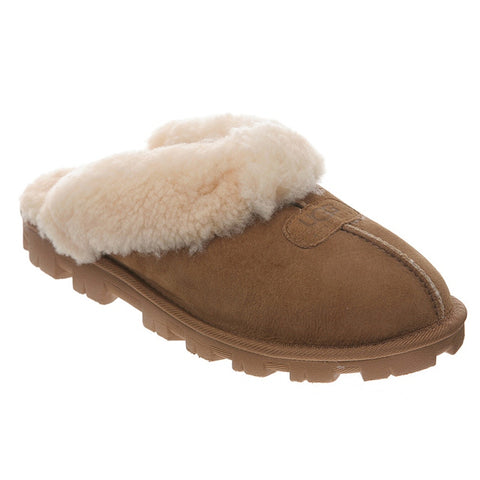 Coquette Slipper in Chestnut Sheepskin
