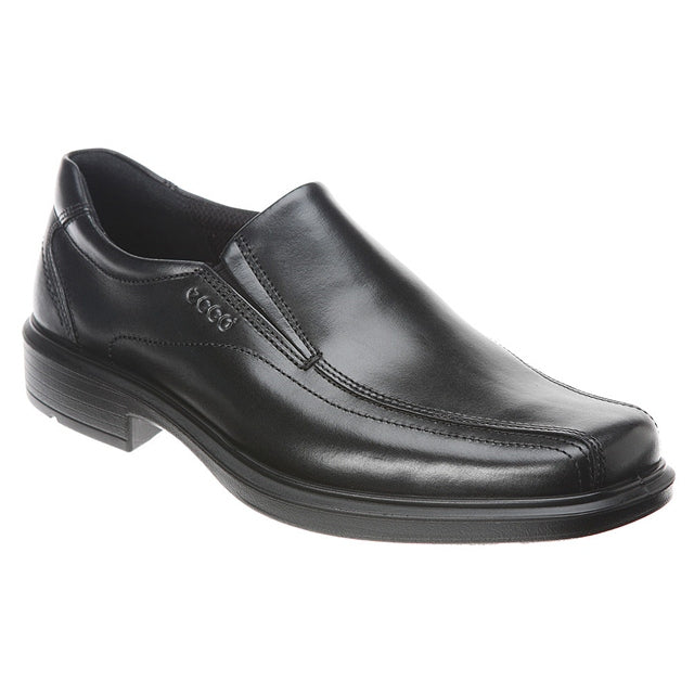 ECCO Helsinki Bike Toe Slip On in Black Leather at Mar-Lou Shoes