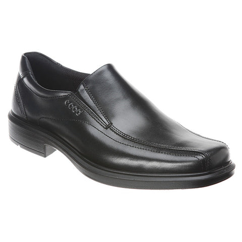 ECCO Helsinki Bike Toe Slip-On in Black Leather at Mar-Lou Shoes