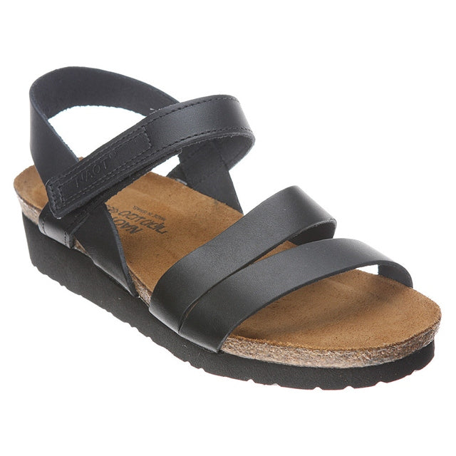 Kayla Sandal in Black Leather