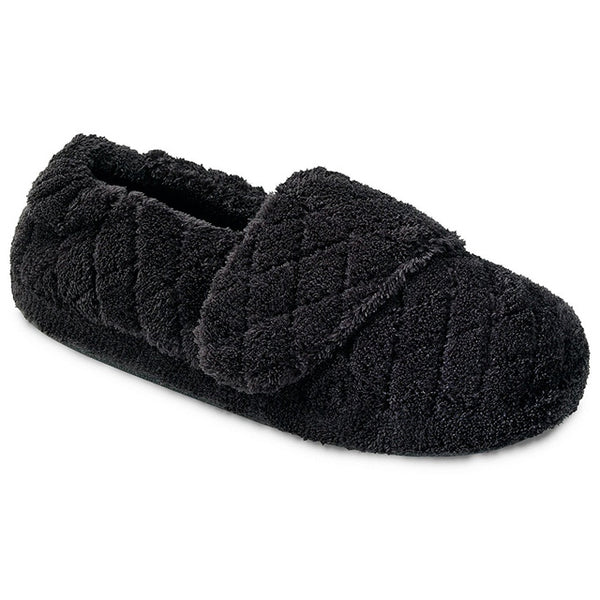 Acorn Spa Wrap Slippers in Black at Mar-Lou Shoes