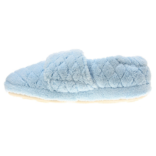 Acorn Spa Wrap Slippers in Powder Blue at Mar-Lou Shoes