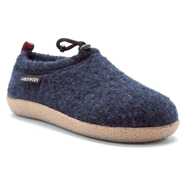 Vent Slipper in Ocean Blue Wool