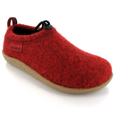 Vent Slipper in Hibiscus Red Wool