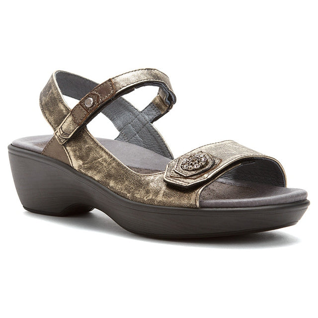 Reserve Sandal in Metal Leather/Pewter Combi