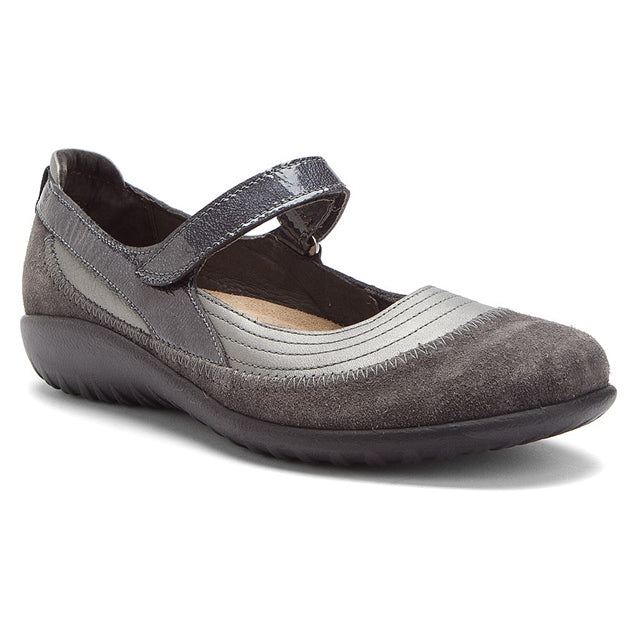 Kirei in Sterling Leather/Gray Suede