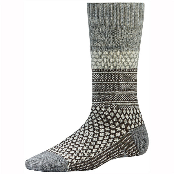 Popcorn Cable Crew Socks Ash Heather