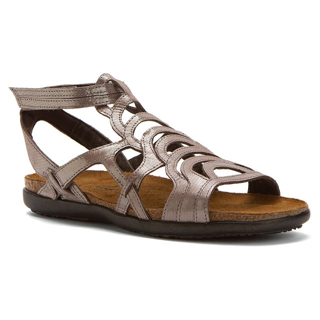 Sara Sandal in Silver Threads Leather