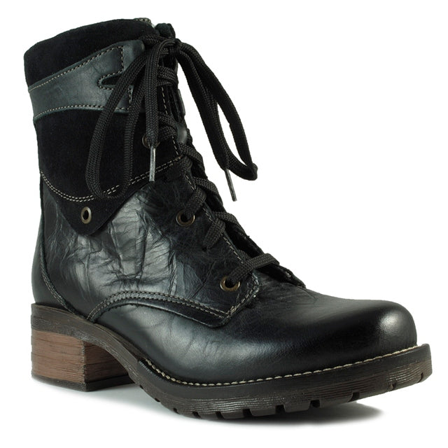 Dromedaris Kara Boot in Black Soft Leather at Mar-Lou Shoes