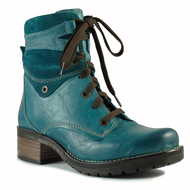 Dromedaris Kara Boot in Teal Leather at Mar-Lou Shoes
