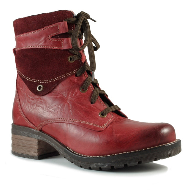 Dromedaris Kara Boot in Red Leather at Mar-Lou Shoes