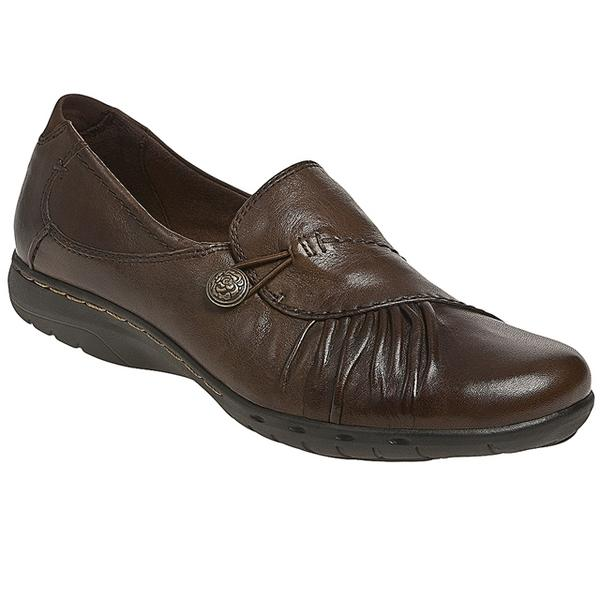 Paulette Slip-On in Bark Leather