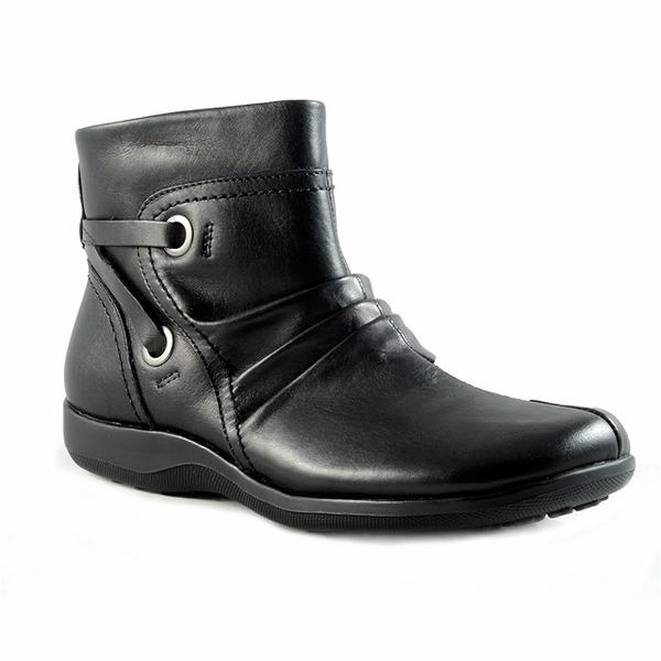 Zinc Ankle Boot in Black Leather