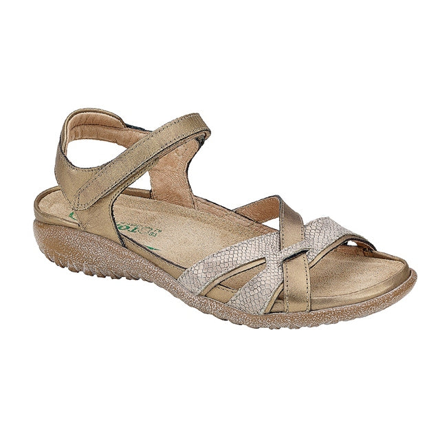 Mataka Sandal in Brass Leather