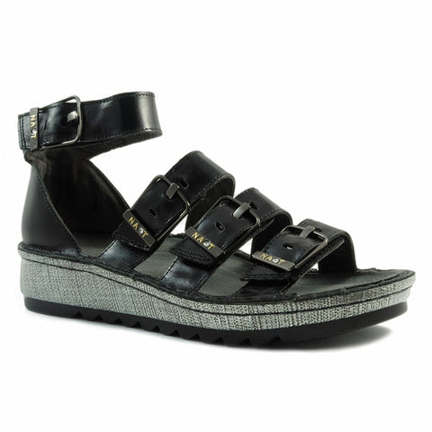 Begonia Sandal in Black Leather