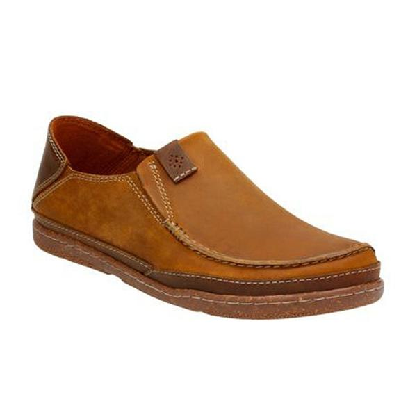 Trapell Form Slip On in Tan Leather