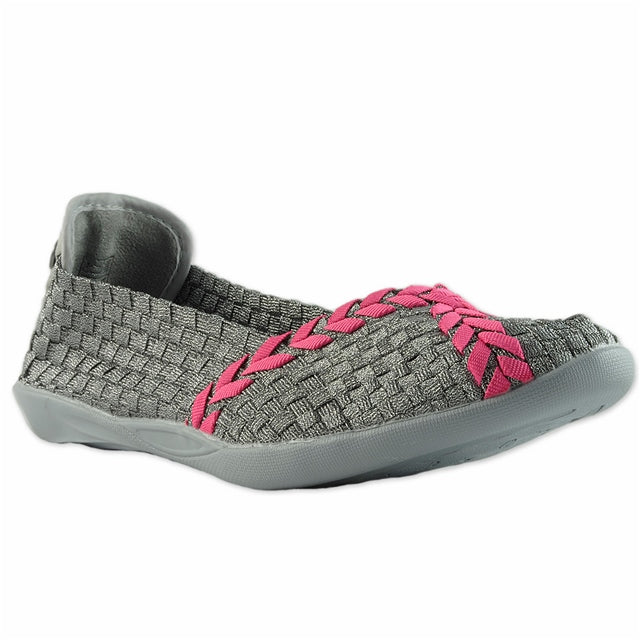 Catwalk Flat in Pewter/Hot Pink