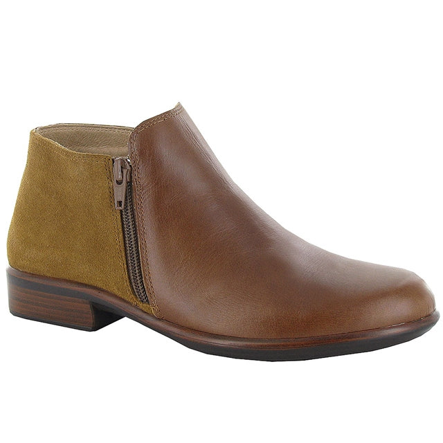 Naot Helm Bootie in Maple Leather at Mar-Lou Shoes