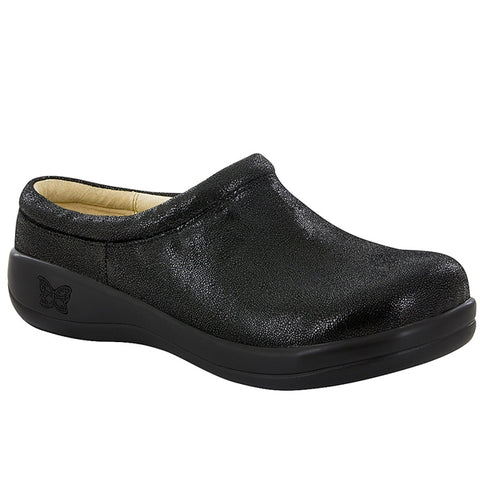 Kayla Slip On Shoe in Black Licorice Leather
