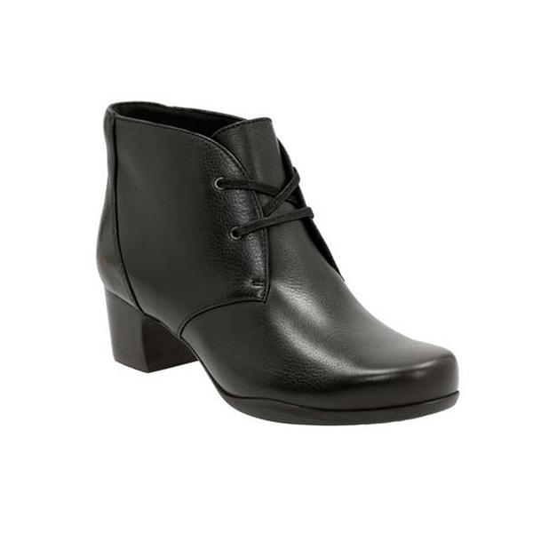 Rosalyn Lark Ankle Boot in Black Leather