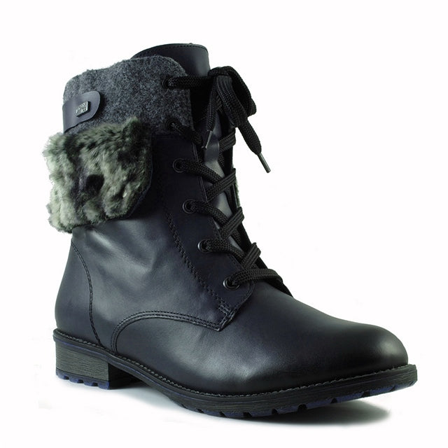 R3337-14 Lace Up Boot in Lake Granite