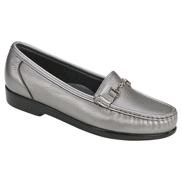 SAS Metro Loafer in Pewter Leather at Mar-Lou Shoes