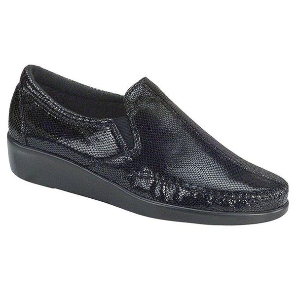 SAS Dream Loafer in Black Snake at Mar-Lou Shoes