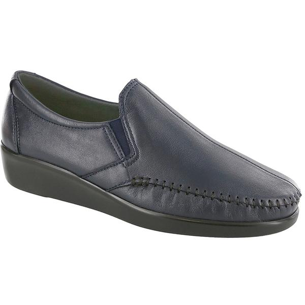 SAS Dream Loafer in Navy Leather at Mar-Lou Shoes