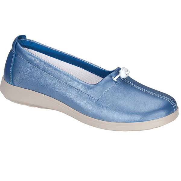 SAS Funk Loafer in Sky Leather at Mar-Lou Shoes