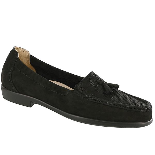 SAS Hope Loafer in Black Croc at Mar-Lou Shoes
