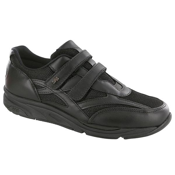SAS TMV in Black Mesh/Velcro at Mar-Lou Shoes