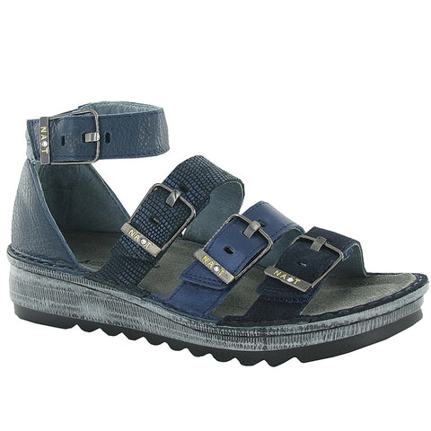 Begonia Sandal in Blue/Navy Leather